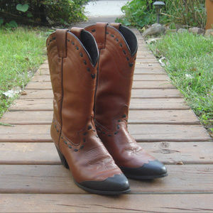 Dingo Brown Leather Cowboy Western Boots